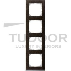 Рамка четверная, для горизонтального/ вертикального монтажа, венге/алюминий
