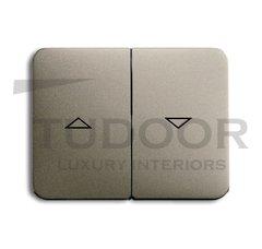 Клавиша для механизма выключателя жалюзи 2000/4 U и 2020/4 US, с маркировкой, серия alpha exclusive, цвет палладий