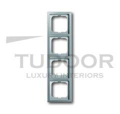 Рамка четверная, для горизонтального/вертикального монтажа, нержавеющая сталь