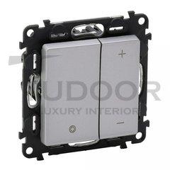 Светорегулятор кнопочный 5-75 Вт для светодиодных димируемых ламп и 5-400 Вт для ламп накаливания, алюминий