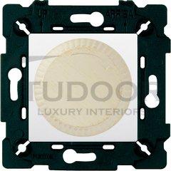 Светорегулятор поворотный 40-500 Вт. для ламп накаливания и галог.220В, white decape/белый