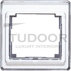 Рамка одинарная, белое стекло