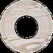 Рамка Восьмерка внутренней монтаж (выбеленный дуб с золотой патиной)
