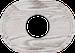 Рамка Овал внутренней монтаж (выбеленный дуб с коричневой патиной)