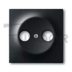 Накладка (центральная плата) для TV-R розетки, серия impuls, цвет чёрный бархат