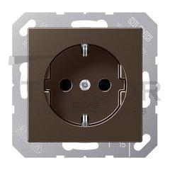 Розетка с заземляющими контактами 16 А / 250 В, автоматические зажимы, мокко
