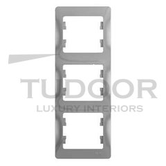 Рамка тройная, для вертикального монтажа, алюминий