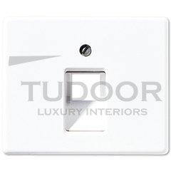 Крышка для одинарной телефонной и компьютерной розетки UAE; белая