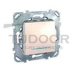 Выключатель одноклавишный с подсветкой, 10 А / 250 В, пластик кремовый глянцевый