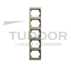 Рамка пятерная, для вертикального монтажа, палладий