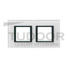 Рамка двойная, для горизонтального/вертикального монтажа, белое стекло
