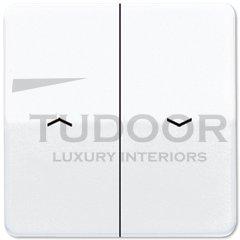 Клавиши для выключателя управления жалюзи 509VU и кнопки 539VU; белые