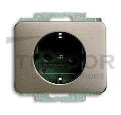 Розетка с заземляющими контактами 16 А / 250 В, с защитой от детей, автоматические зажимы, палладий
