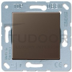 Выключатель одноклавишный, 10 А / 250 В, мокко