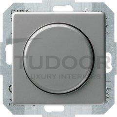 Светорегулятор поворотный 60-400 Вт. для ламп накаливания и галог.220В, нержавеющая сталь