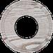 Рамка Восьмерка внутренней монтаж (выбеленный дуб с коричневой патиной)