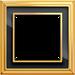 Рамка Dynasty (полированная латунь / черное стекло)
