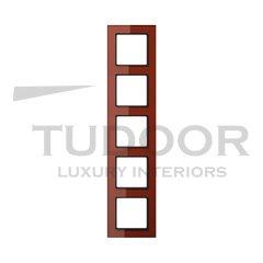 Рамка пятерная, для горизонтального/ вертикального монтажа, стекло красное глянцевое