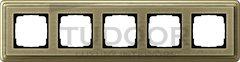 Рамка пятерная, для горизонтального/вертикального монтажа, бронза