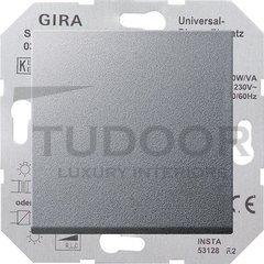 Светорегулятор клавишный универсальный 50-420 Вт. для ламп накаливания и низковольтн.галог.ламп, пластик под алюминий