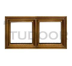 Рамка двойная, для горизонтального/ вертикального монтажа, античная латунь