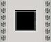 Рамка Crystal De Luxe (вельвет (бархатный)/блестящий хром)