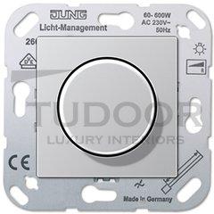 Светорегулятор для светодиодных LED ламп 3-100 Вт, универсальный, 20-400 Вт ламп накаливания и галогенных, пластик под алюминий