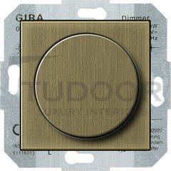 Светорегулятор поворотный 60-400 Вт. для ламп накаливания и галог.220В, бронза
