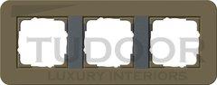 Рамка тройная для горизонтального/вертикального монтажа, с покрытием Soft Touch, дымчатый/антрацит