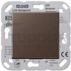 Светорегулятор клавишный универсальный 50-420 Вт. для ламп накаливания и галог.ламп 230В, мокко
