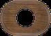 Рамка Овал внутренней монтаж (дуб коричневый)