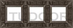 Рамка тройная, для горизонтального/ вертикального монтажа, античное серебро