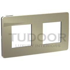 Рамка двойная, для горизонтального/вертикального монтажа, бронза/антрацит