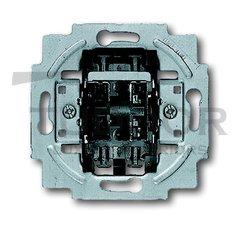 Механизм 1-клавишного, 1-полюсного выключателя жалюзи, без фиксации, 10А 250В
