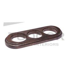 Рамка тройная для механизмов наружного монтажа (овал), венге