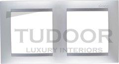 Рамка двойная, для горизонтального/вертикального монтажа, алюминий
