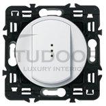 Выключатель, переключатель одноклавишный с подсветкой, (вкл/выкл с 1-го и 2-х мест) 10 А / 250 В, белый