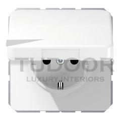 Розетка с заземляющими контактами 16 А / 250 В, с откидной крышкой, автоматические зажимы, белый