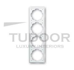 Рамка четверная, для горизонтального/вертикального монтажа, белый бархат