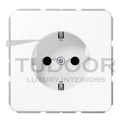 Розетка с заземляющими контактами 16 А / 250 В, автоматические зажимы, белый