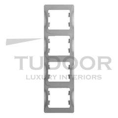 Рамка четверная, для вертикального монтажа, алюминий