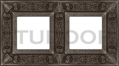 Рамка двойная, для горизонтального/ вертикального монтажа, античное серебро