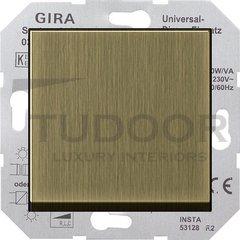 Светорегулятор клавишный универсальный 50-420 Вт. для ламп накаливания и низковольтн.галог.ламп, бронза