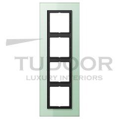 Рамка четверная, для горизонтального/ вертикального монтажа, матовое стекло