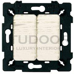 Выключатель двухклавишный, 10 А / 250 В, white decape