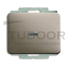 Выключатель одноклавишный с подсветкой, проходной (вкл/выкл с 2-х мест), 10 А / 250 В, палладий