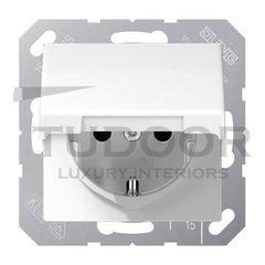 SCHUKO-розетка с откидной крышкой и защитой от детей; белый
