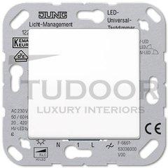 Светорегулятор клавишный универсальный50-420 Вт. для ламп накаливания и галог.ламп 230В, пластик белый глянцевый