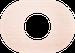 Рамка Овал внутренней монтаж (дуб не крашенный)