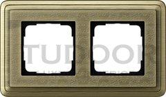 Рамка двойная, для горизонтального/вертикального монтажа, бронза